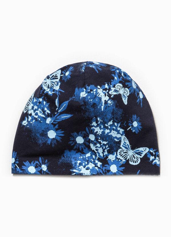 Patterned cotton beanie cap | OVS