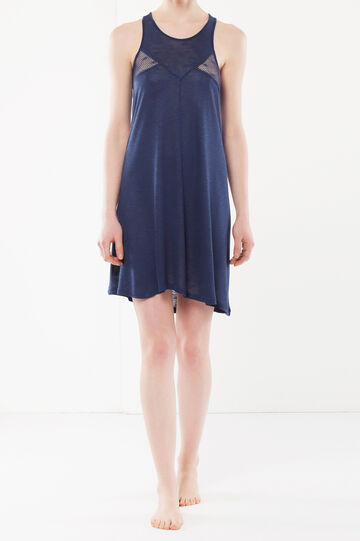 Nightdress with mesh details