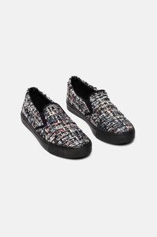 Slip-on canvas sneakers, Multicolour, hi-res