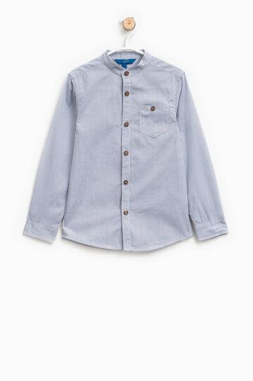 Micro-check cotton shirt