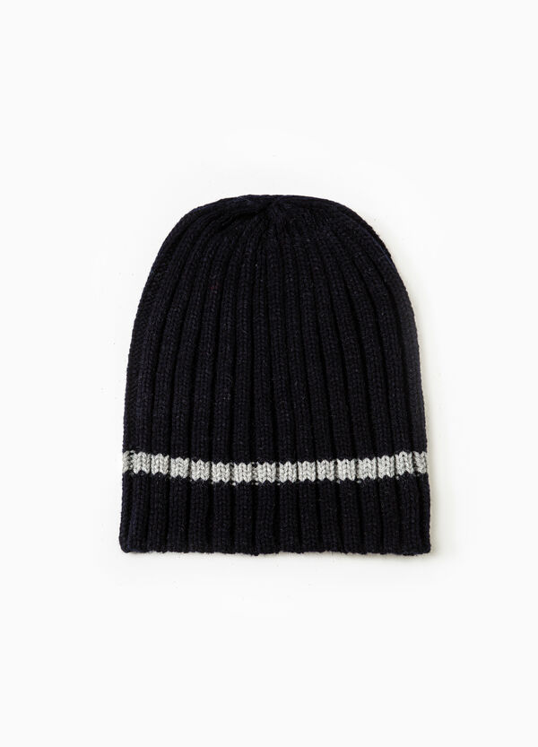 Solid colour ribbed beanie cap | OVS