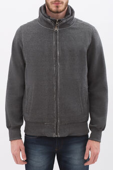 G&H cotton blend sweatshirt with high neck., Ash Grey, hi-res