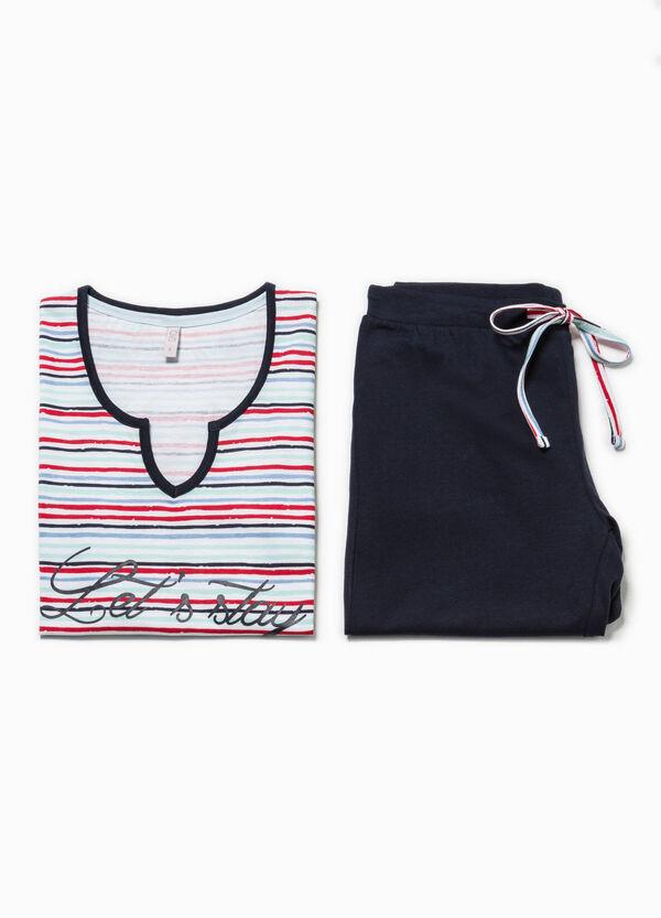 Striped pyjamas with print | OVS