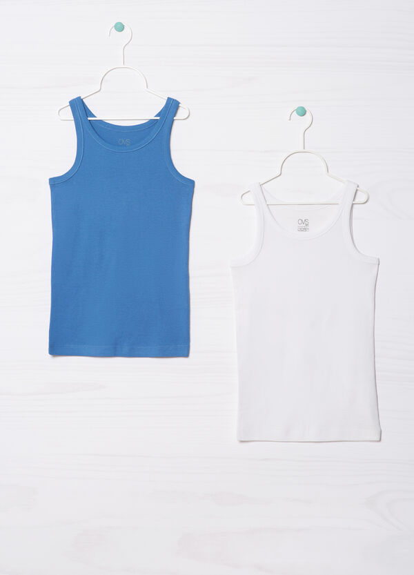 Two-pack cotton undervests | OVS