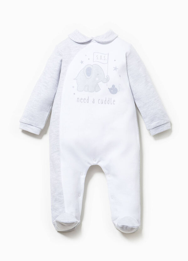 Printed onesie in 100% cotton | OVS