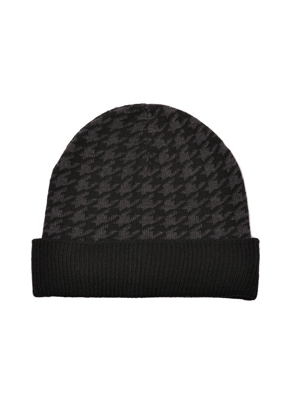 Hounds tooth beanie cap | OVS