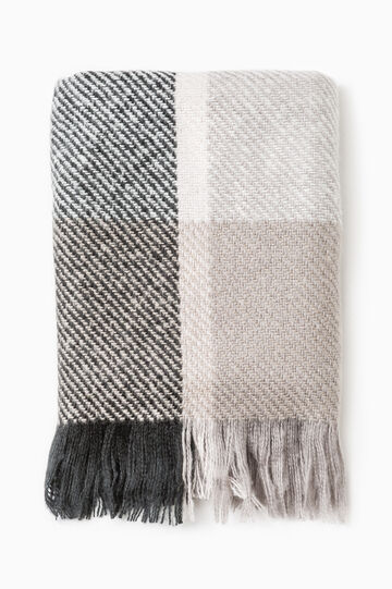 Scarf with geometric pattern, Grey/Pink, hi-res