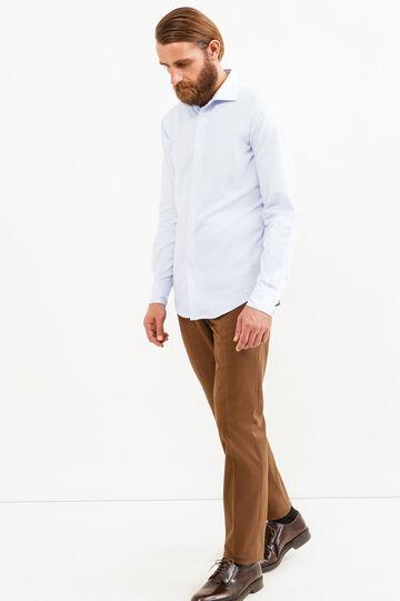 Camicia casual Rumford slim fit, Blu chiaro, hi-res