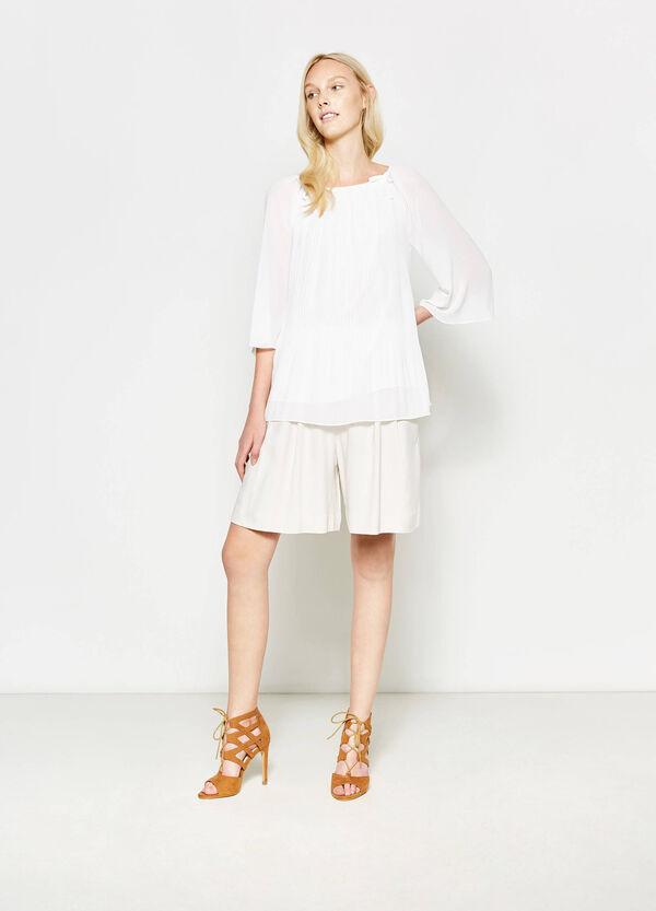 Blusa plissettata con laccetti | OVS