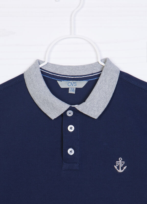 100% cotton polo shirt with buttons | OVS