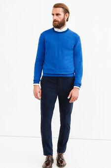 Cashmere blend Rumford pullover, Blue, hi-res