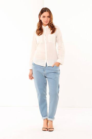 Curvy shirt, Milky White, hi-res