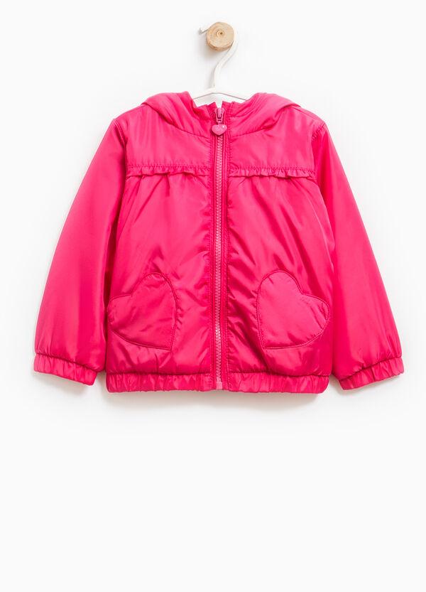 Jacket with hood and flounces | OVS