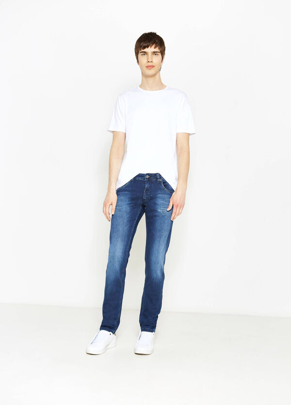 Slim-fit worn-effect stretch jeans | OVS