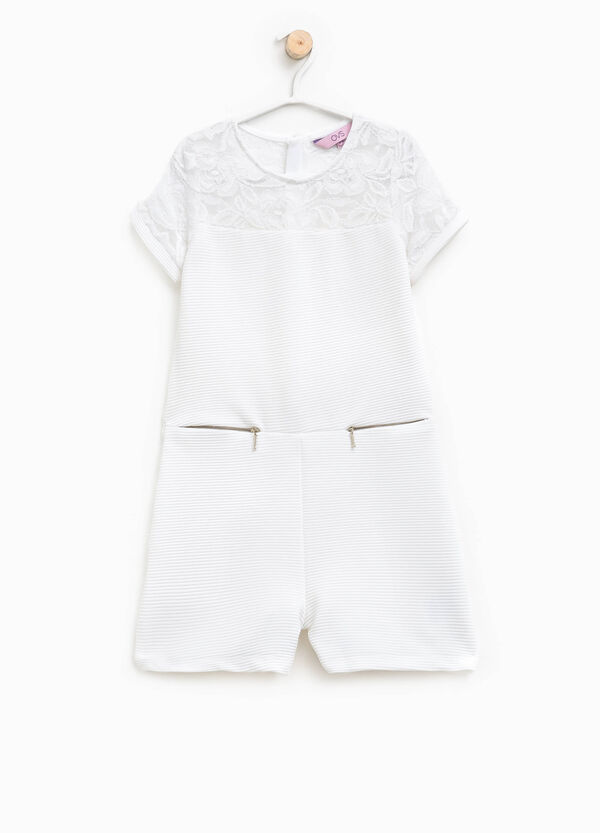 Stretch onesie with lace and pockets | OVS