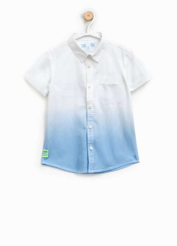 Camicia in cotone effetto degradé | OVS