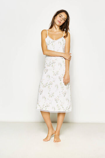 Nightdress with floral print