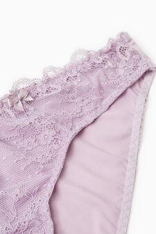 Stretch lace briefs with bows, Mauve, hi-res