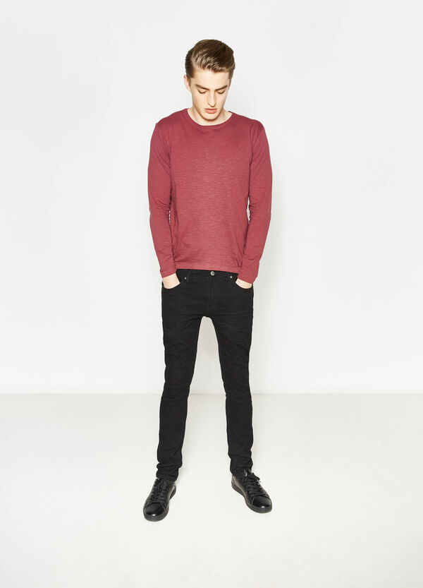 Round neck T-shirt with long sleeves | OVS