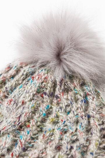 Beanie cap with pompom, Light Grey, hi-res