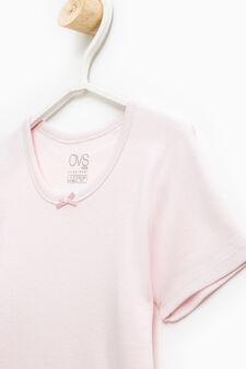 T-shirt intima puro cotone fiocchetto, Rosa, hi-res