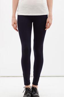 Leggings stretch, Blu scuro, hi-res