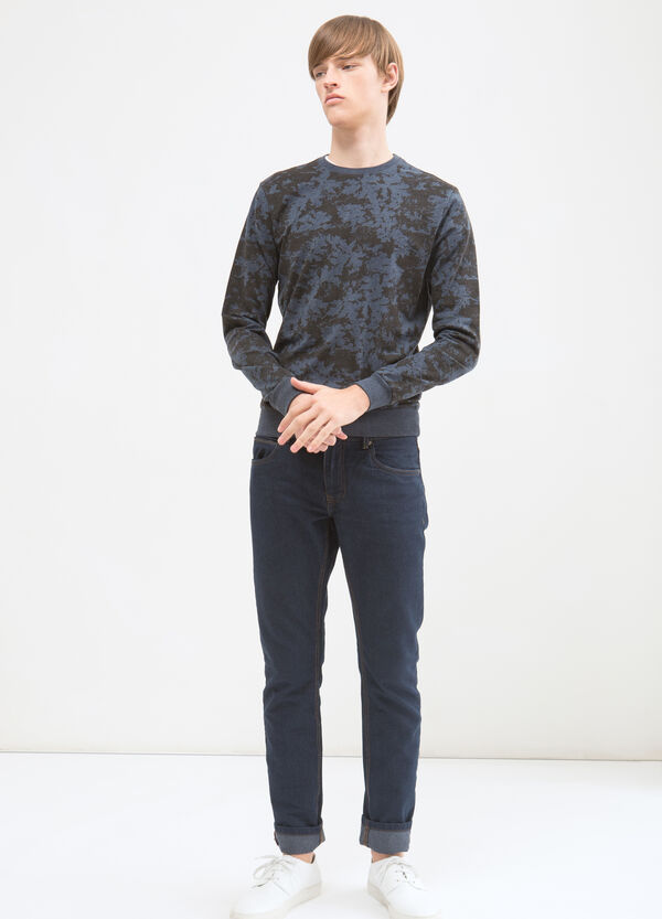 Pullover misto cotone fantasia | OVS