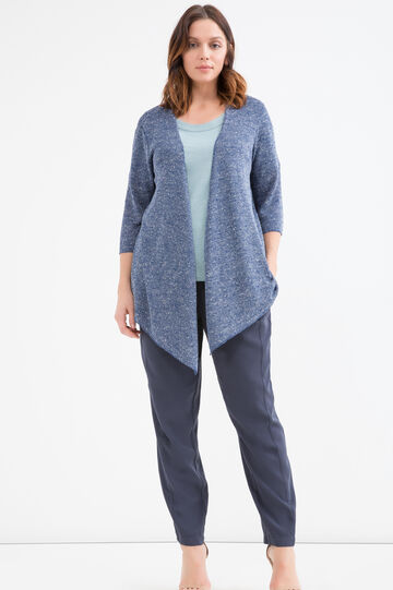 Curvy viscose blend cardigan, Blue, hi-res