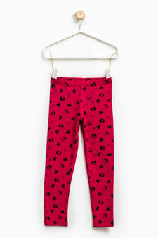 Stretch leggings with all-over print, Cherry Red, hi-res