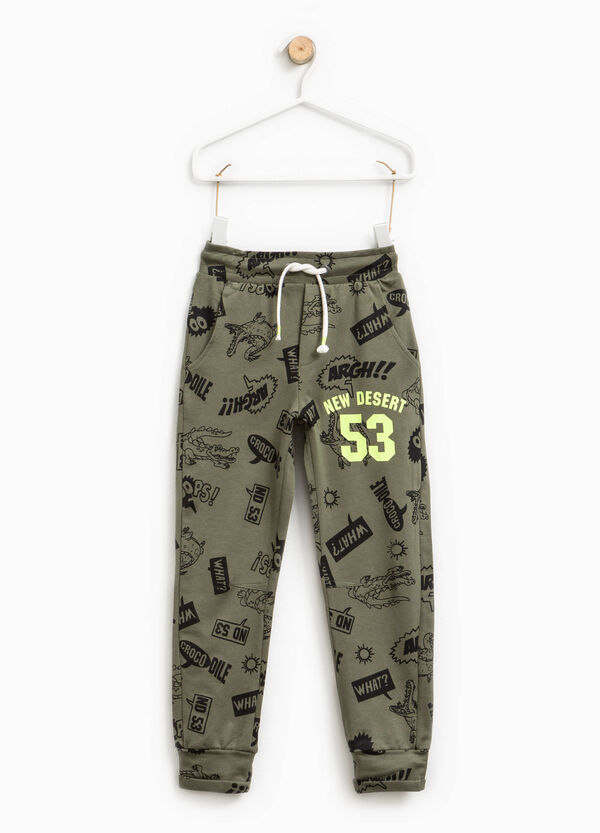 Cotton trousers with pattern | OVS