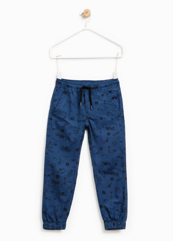 Patterned trousers in 100% cotton | OVS