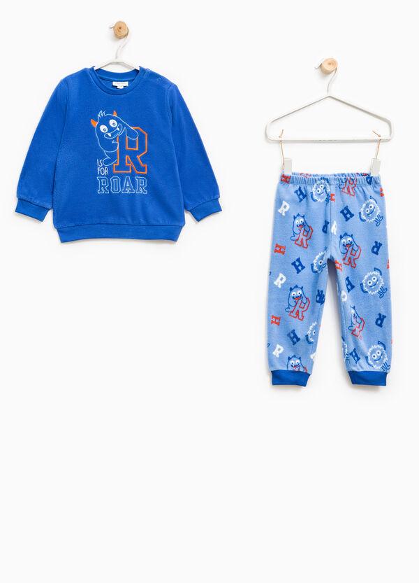 Fleece pyjamas with monster pattern | OVS