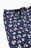 Pyjama trousers with floral print, Navy Blue, hi-res