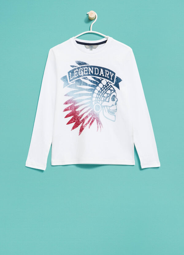 T-shirt maniche lunghe stampata | OVS