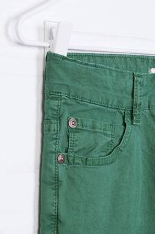 Pantaloni cinque tasche stretch, Verde, hi-res