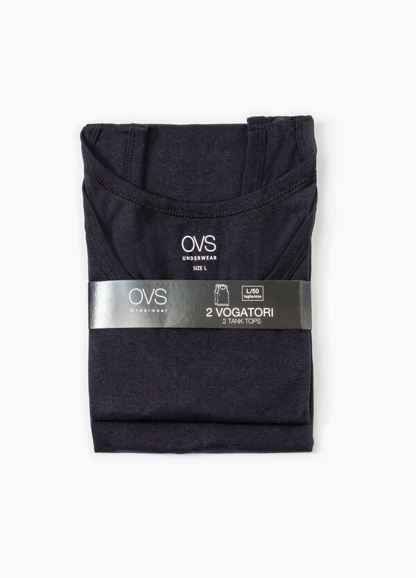 Set of two cotton under vests | OVS