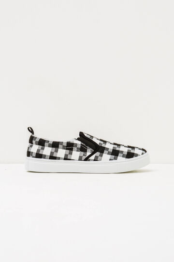 Check pattern slip-ons, Black/White, hi-res