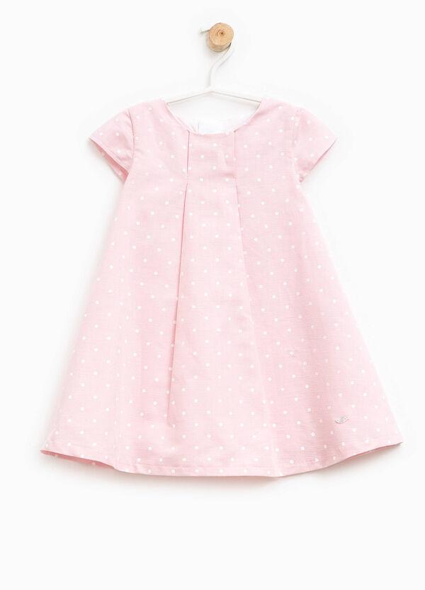 Polka dot dress with pleating | OVS