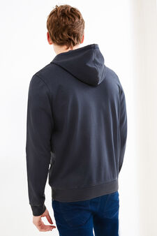 Cotton blend hoodie with Peanuts print, Navy Blue, hi-res