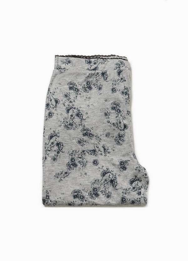 Pantalón de pijama con estampado y encaje | OVS