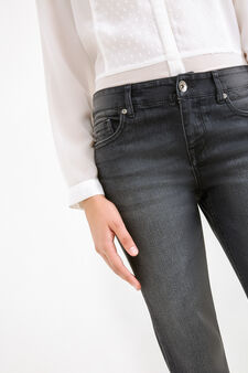 Jeans ankle skinny fit stretch, Nero, hi-res