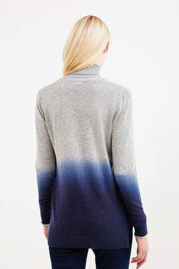 Cardigan misto lana effetto degradé, Grigio, hi-res