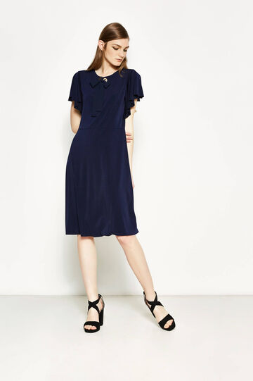 Stretch dress with tie