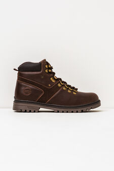 Boots with thick tread sole, Dark Brown, hi-res