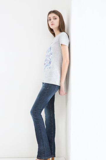 100% cotton mélange T-shirt., Grey Marl, hi-res