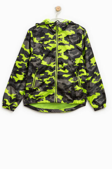 Camouflage jacket with hood, Multicolour, hi-res