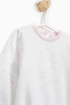 Printed pyjamas in 100% cotton, White, hi-res