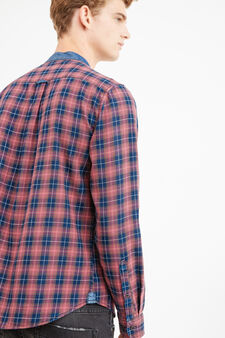 G&H check casual shirt with pocket, Blue/Red, hi-res