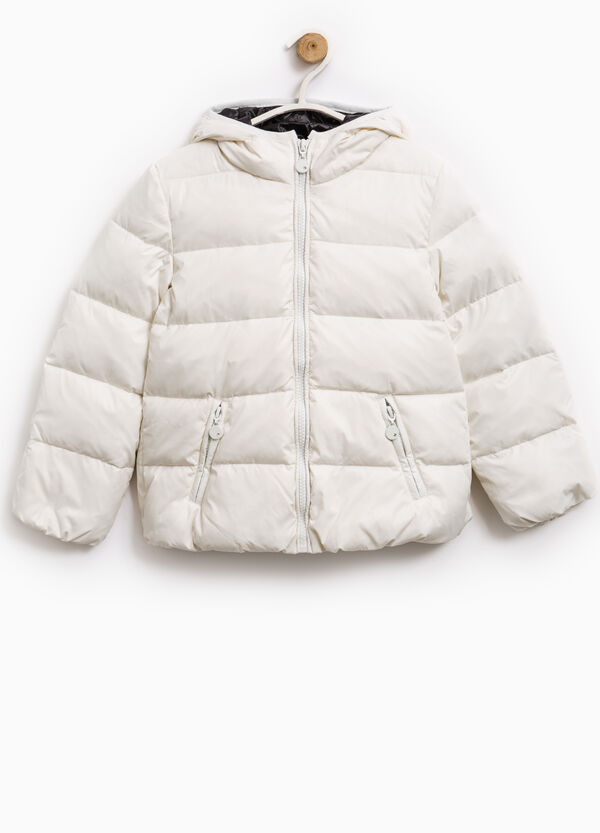 Down jacket with double pocket and hood | OVS