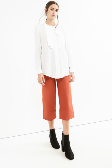 Solid colour gaucho pants., Orange, hi-res